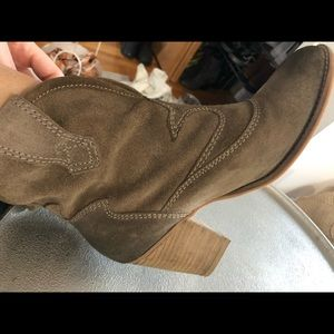 Jeffrey Campbell distressed cowboy bootie